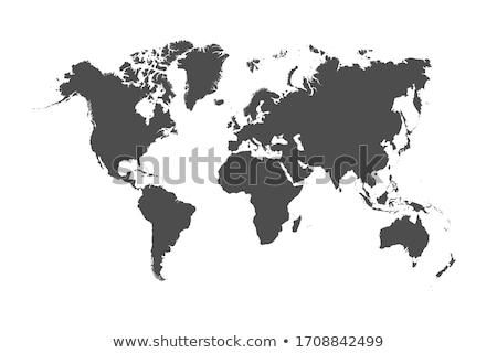 skicc · Kanada · térkép · absztrakt · utazás · festmény - stock fotó © volina