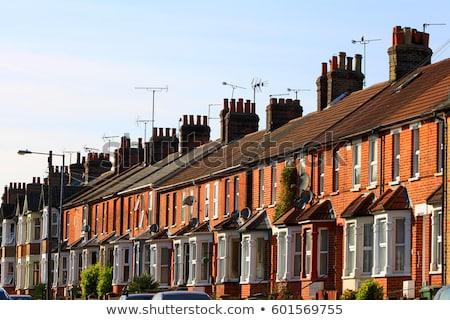 Terraced houses Stock photo © trgowanlock