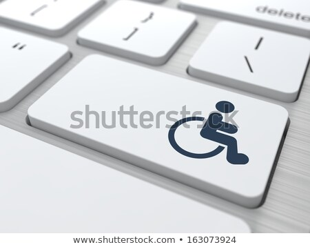 Adaptive Counseling for Disabled Button. Stock photo © tashatuvango