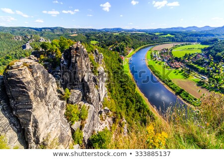 Autumn day Saxon Switzerland Stock photo © w20er