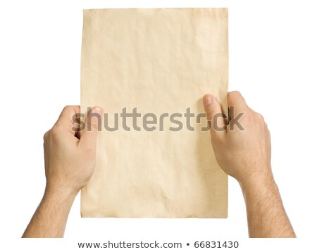 Man holding crumpled pieces of paper Stock photo © stevanovicigor