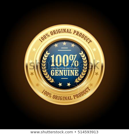 golden 100 original seal stock photo © burakowski