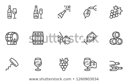 Wineglasses on a line Stock photo © c-foto