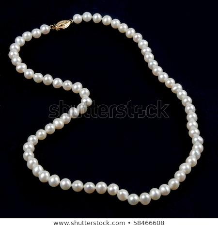 escuro · pérola · colar · isolado · branco · abstrato - foto stock © elnur