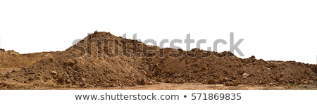 Vuil bouwplaats groen gras groot blauwe hemel Stockfoto © franky242