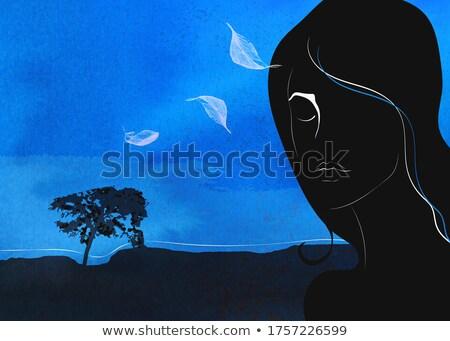 меланхолия · молодым · человеком · копия · пространства · человека - Сток-фото © filipw