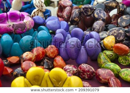 marché · Equateur · design · Voyage · tissu · couleur - photo stock © xura