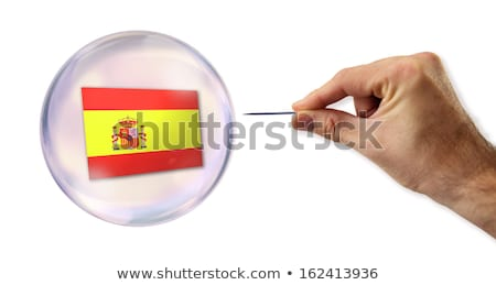 European Union economic Bubble about to explode by a needle  Stock photo © klublu