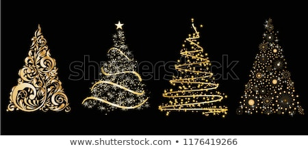 Abstract christmas tree card Stock photo © orson