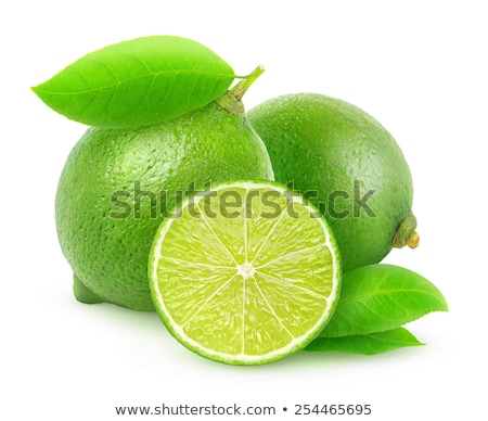 Three sliced limes isolated on a white background   Stock photo © dla4