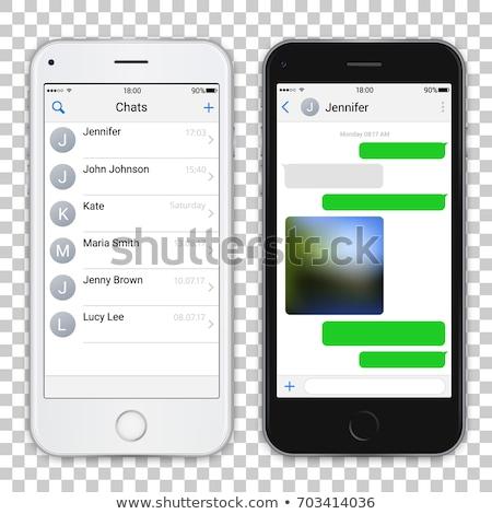 реалистичный · иллюстрация · белый · смартфон · экране - Сток-фото © Mischoko
