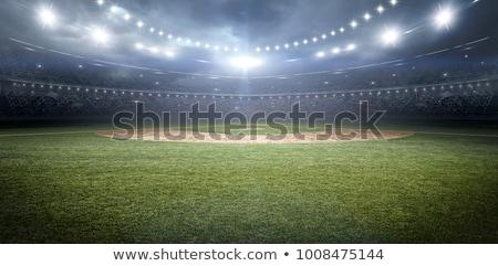 baseball · pálya · denevér · labda · kesztyű · fű · sport - stock fotó © stockshoppe