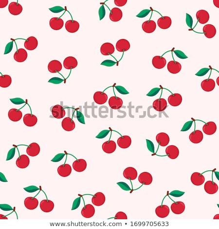 Senza soluzione di continuità ciliegio pattern frutta carta texture Foto d'archivio © elenapro