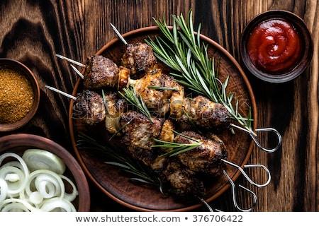 сырой · свинина · меда · перец · растительное · свежие - Сток-фото © antonio-s
