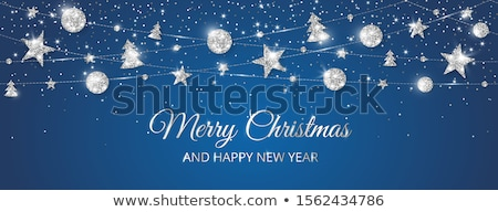 vidám · karácsony · vektor · ünnep · illusztráció · buli - stock fotó © carodi
