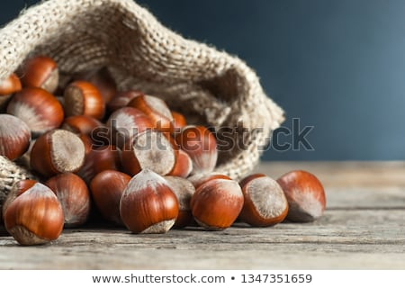Whole Hazelnuts on old table Stock photo © mady70