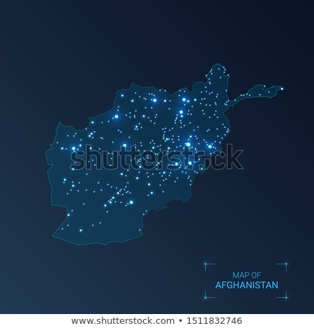 Map of Afghanistan with with Dot Pattern Stock photo © Istanbul2009