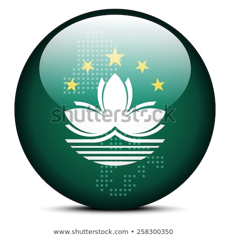 Map with Dot Pattern on flag button of Macau SAR China Stock photo © Istanbul2009