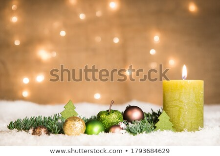 Noël · vert · ornements · argent · fête · décoration - photo stock © ingridsi