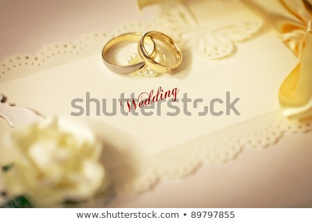 invitation · de · mariage · diamants · satin · image · illustration · blanche - photo stock © Irisangel