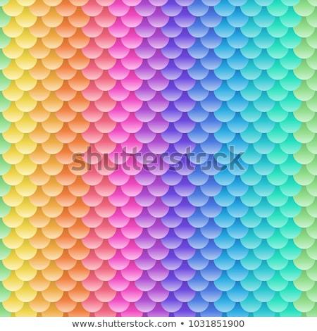 abstract geometric blue violet green pink seamless pattern Stock photo © TRIKONA
