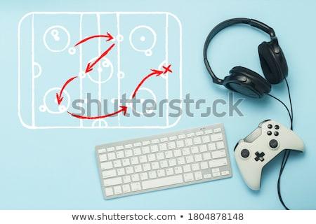 attack controller on black console stock photo © tashatuvango