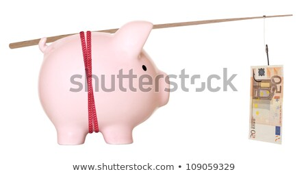 Fifty Euro Bill Trapped In Fishing Hook Stock photo © AndreyPopov