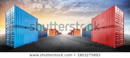 The empty container seaport Stock photo © Zhukow