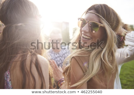 festive blonde smiling at camera stock photo © wavebreak_media