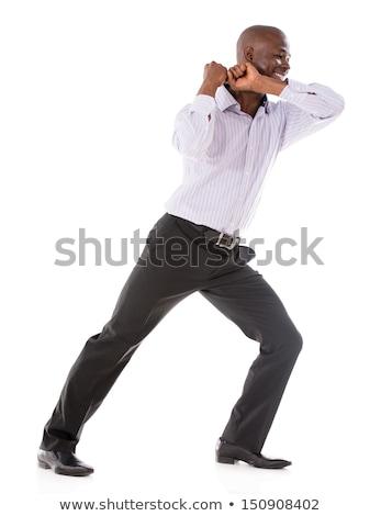 Businessman pulling something with effort  Stock photo © wavebreak_media