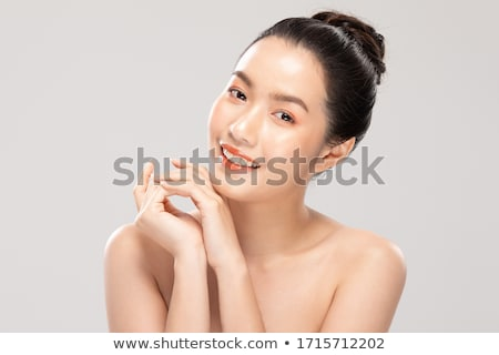 portré · gyönyörű · lány · egészséges · bőr · csinos · arc - stock fotó © master1305