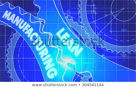 fabrico · engrenagens · diagrama · estilo · mecanismo · técnico - foto stock © tashatuvango