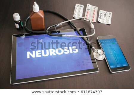 neurosis on the display of medical tablet stock photo © tashatuvango