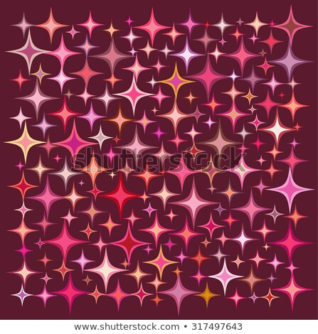 Pembe turuncu star toplama derin kırmızı Stok fotoğraf © Melvin07