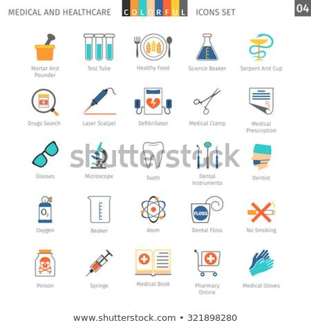 Medical Colorful Icons Set 04 Stock photo © Genestro