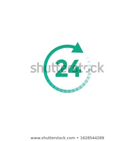 Hívás körkörös vektor zöld webes ikon gomb Stock fotó © rizwanali3d