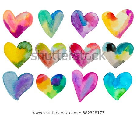 set of the beautiful hearts stock photo © romvo