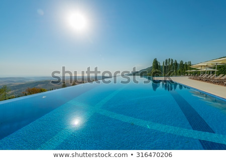 infinity pool on the bright summer day stock photo © elnur