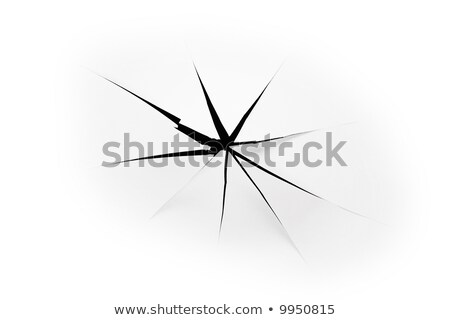 the sheet of paper with the three torn holes against the black background Stock photo © Paha_L