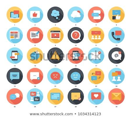 Conversación icono diseno negocios aislado ilustración Foto stock © WaD