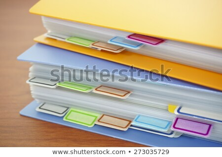 A brown file folder labeled with Accounting Stock photo © Zerbor