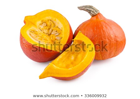 two pumpkins isolated on white background Stock photo © shutswis
