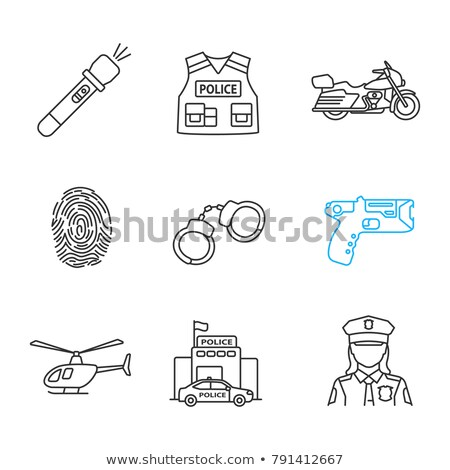negro · Cartoon · ilustración · eps · 10 · ley - foto stock © ayaxmr