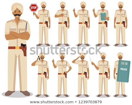 Profession Police Character Design Flat Stock photo © robuart