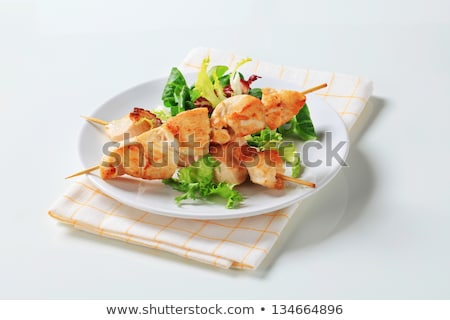 Chicken skewer and salad mix Stock photo © Digifoodstock