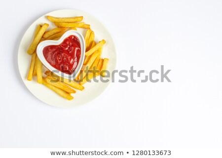 Patatine fritte forcella metal studio fast food chip Foto d'archivio © Digifoodstock