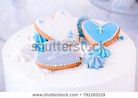 Zdjęcia stock: Ciasto · chrzest · ilustracja · strony · dziecko · chłopca