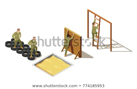 soldado · munición · diseno · mochila · militar · armas - foto stock © jossdiim