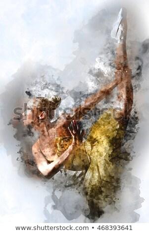 Lovely ballerina in yellow tutu. Digital art Stock photo © amok