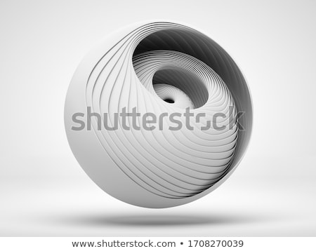 abstract 3d sphere spiral shape stock photo © m_pavlov